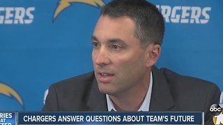 Chargers answer questions about team's future - Video