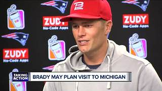 Tom Brady may visit Michigan when Patriots are in town to face Lions