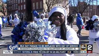 Baltimore replacing MLK day parade with a Day of Service - Video