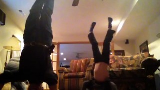 Hilarious Father and Son Handstand - Video