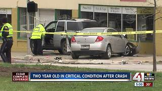 Two year old with critical injuries after crash - Video
