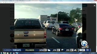 Lanes shut down on I-95 at Hobe Sound - Video