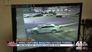 Drive-by shooting outside KCK church caught on camera