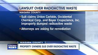 Niagara County residents sue over radioactive waste storage - Video