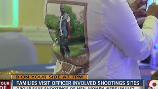 Families visit sites of officer-involved shootings - Video