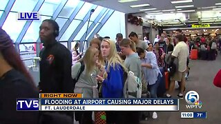 Heavy delays at Fort Lauderdale airport after severe flooding in Broward County