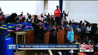 The Voice alumnus and Tulsa native Brian Nhira speaks to Midday about a Christmas concert - Video