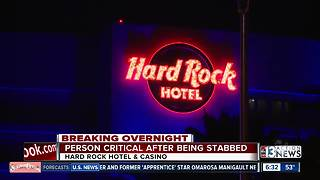 Man stabbed at Hard Rock Hotel - Video