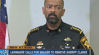 Rep. Crowley calls on Gov. Scott Walker to remove Milwaukee County Sheriff David Clarke from office - Video