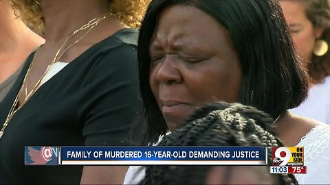 Family of murder 16-year-old demands justice at vigil