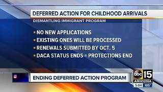 20,000+ DREAMers in Arizona uncertain with their future post DACA announcement - Video