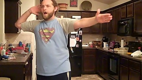 Dad Dances To Sweet Dreams On A Hoverboard