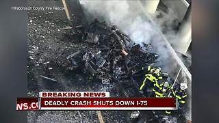 1 dead in fiery crash on I-75 and Fowler | 6pm report