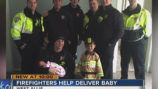 West Allis firefighters deliver baby, surprise family - Video