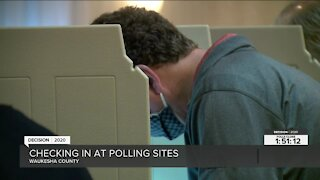 Voters cast their ballots in Waukesha County