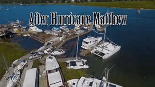 Aerial Footage Shows Hilton Head Island Before and After Hurricane Matthew - Video
