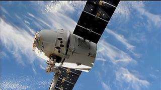 U.S. Commercial Cargo Ship Departs Space Station For Earth - Video