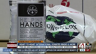 #WeSeeYouKSHB: Heart to Heart, FedEx partner to donate medical masks
