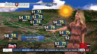 Sunny skies tomorrow, a chance of rain on Thursday - Video