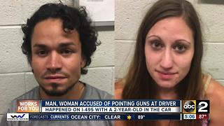 Man, woman charged after road rage incident on Capital Beltway