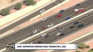Serious crash blocks Loop 101 at Guadalupe - Video