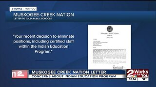 Muskogee Creek Nation letter expresses concerns about Indian Education Program