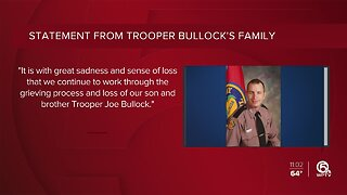 Family of fallen Trooper Joseph Bullock releases statement.