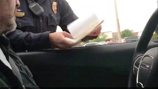 Grandpa Gets Pulled Over By Police For Surprise Baby Announcement - Video