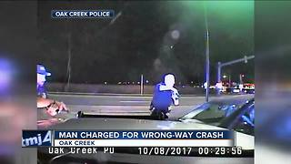 Man Charged For Wrong Way Crash - Video