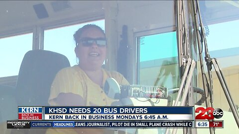 Kern Back In Business: KHSD is looking for 20 new school bus drivers
