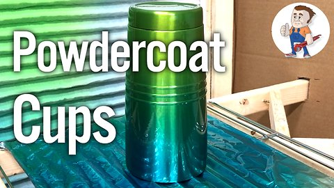 How to powder coat cups at home with decals