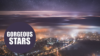 Photographer captured these enchanting images showing stars glittering above a town - Video