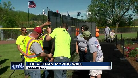 Vietnam Moving Wall on display in Greenfield
