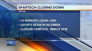 70 workers to lose jobs in Spartech LLC Ripon facility closing