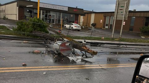 Gatineau Streets Littered With Debris from Tornado