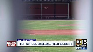 Baseball field incident at San Tan Valley high school - Video