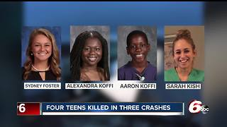 4 teens killed in 3 crashes over 2 weeks - Video