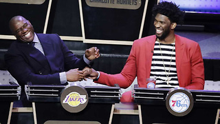 Magic Johnson & Joel Embiid React to the NBA Draft Lottery Results - Video