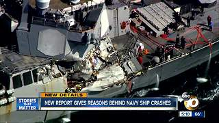 Navy Releases Report on Destroyer Collisions - Video