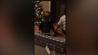 The Sweetest Christmas Reaction Ever - Video