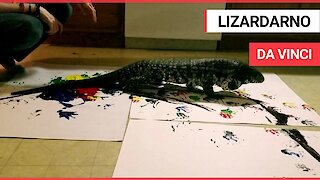 These artistic masterpieces have been created by a massive LIZARD