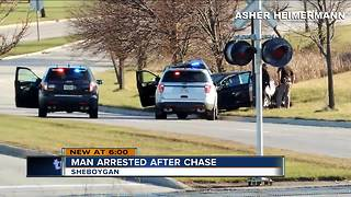 Milwaukee man leads Sheboygan County Sheriff's Office on chase Saturday afternoon - Video