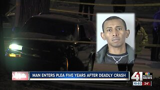 Man enters plea five years after deadly crash