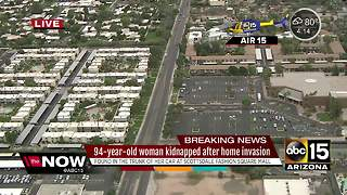Elderly woman kidnapped during home invasion in Scottsdale