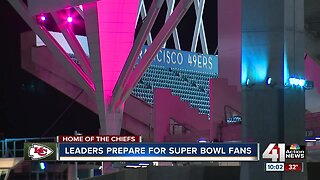 Leaders prepare for Super Bowl fans
