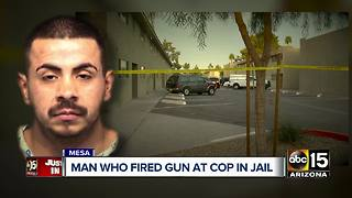 Man who fired at Mesa officers identified - Video