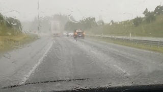 Sudden Storm Brings Large Hailstones to Auckland - Video