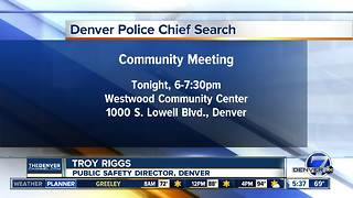 Denver Police chief search community meeting - Video