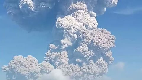 Ash Rises From Indonesia's Sinabung Volcano Following Eruption