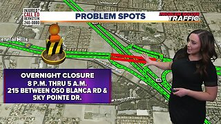 Overnight northern beltway closure